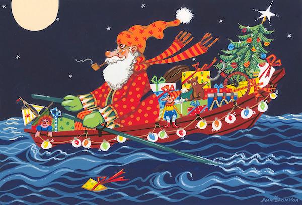Rowing Santa-