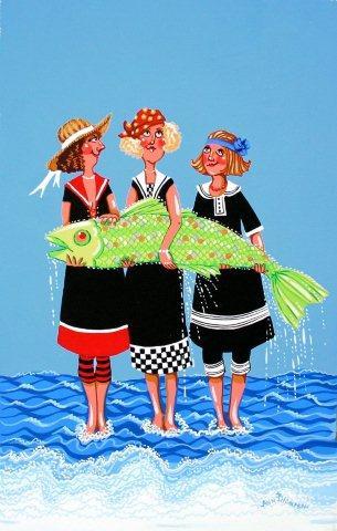Three Fisherwomen-