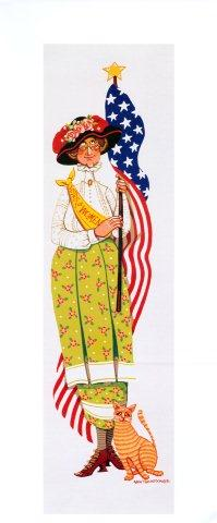 Lady with a Flag-