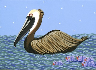 Pelican and the Purple Fish-