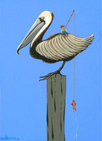 Pelican and The Fisherman-