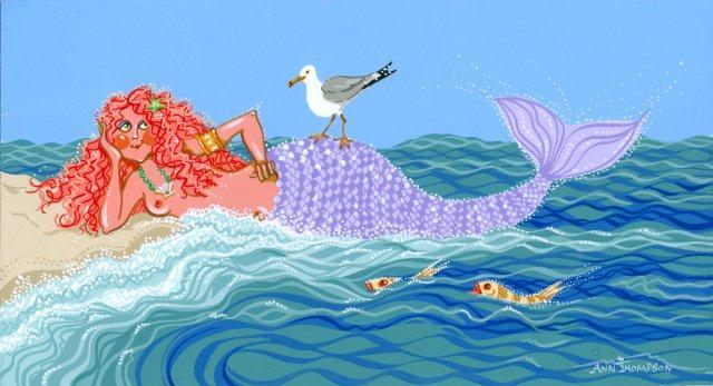 Red Headed Mermaid-