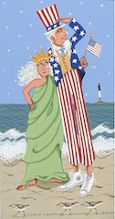 Uncle Sam and Lady Liberty-