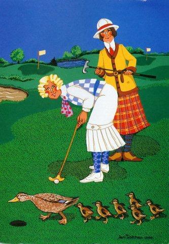 Women Golfers-